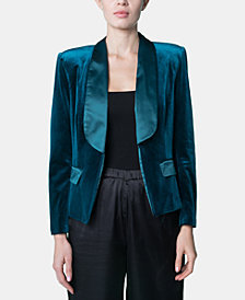 Brittany Xavier x INSPR Velvet Single Breasted Blazer, Created for Macy's