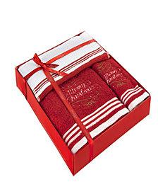 Enchante Home Christmas Tree 3-Pc. Towel Set