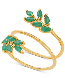 Emerald Coil Statement Ring (9/10 ct. t.w.) in 14k Gold