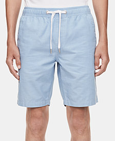 "Calvin Klein Jeans Men's Regular-Fit Chambray 9"" Drawstring Shorts"