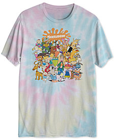Nickelodeon Splat Squad Men's Tie Dye Graphic T-Shirt