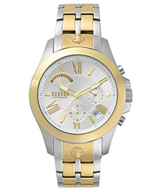 Versus Men's Chronograph Lion Extension Two-Tone Stainless Steel Bracelet Watch 44mm