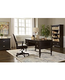 Clinton Hill Ebony Home Office Set, 2-Pc. Set (Writing Desk & Upholstered Desk Chair)