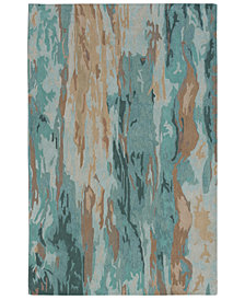 "Liora Manne' Corsica 9144 Waterfall Patina 2' x 7'6"" Runner Area Rug"