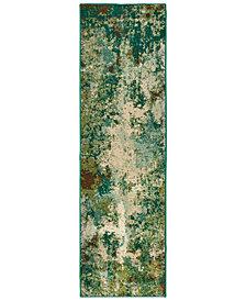 "Oriental Weavers Dawson 8021B Blue/Green 2'3"" x 7'6"" Runner Area Rug"