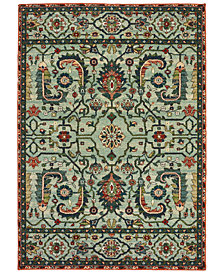 "Oriental Weavers Dawson 8490B Blue/Rust 3'10"" x 5'5"" Area Rug"
