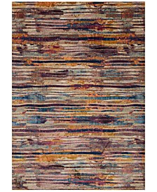 "Dreamscape DM-03 Raspberry/Multi 7'10"" x 11' Area Rug"