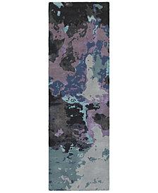 "Oriental Weavers Galaxy 21901 Blue/Purple 2'6"" x 8' Runner Area Rug"