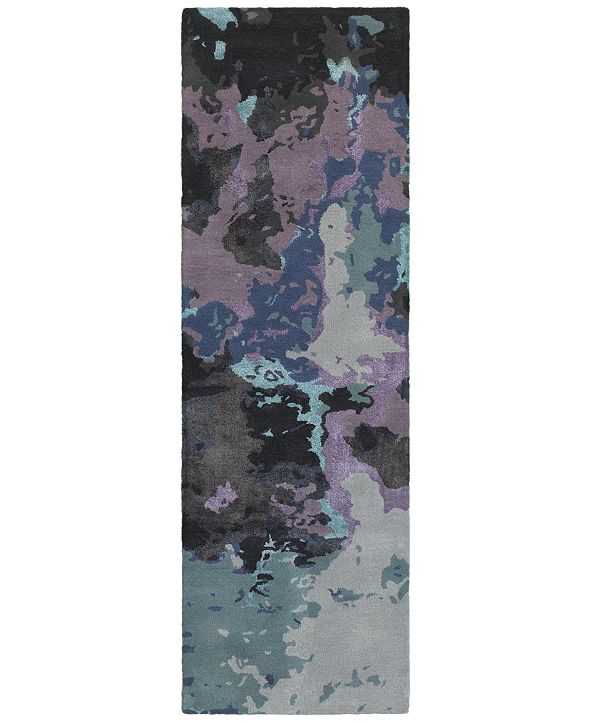 "Oriental Weavers Galaxy 21901 Blue/Purple 2'6"" x 8' Runner Area Rug"