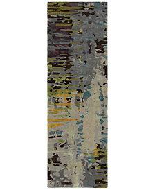 "Oriental Weavers Galaxy 21907 Multi/Gray 2'6"" x 8' Runner Area Rug"