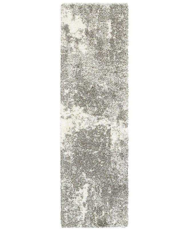 "Oriental Weavers Henderson Shag 5503 2'3"" x 7'6"" Runner Area Rug"