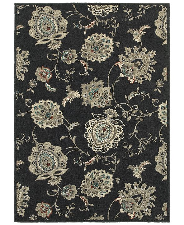 "Oriental Weavers Highlands 2444I Midnight/Ivory 7'10"" x 10'10"" Area Rug"