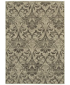 "Highlands 6609C Gray/Ivory 7'10"" x 10'10"" Area Rug"