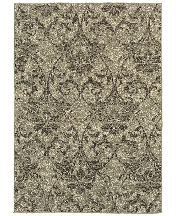 "Oriental Weavers Highlands 6609C Gray/Ivory 7'10"" x 10'10"" Area Rug"