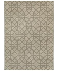 "Oriental Weavers Highlands 6638E Gray/Beige 6'7"" x 9'6"" Area Rug"