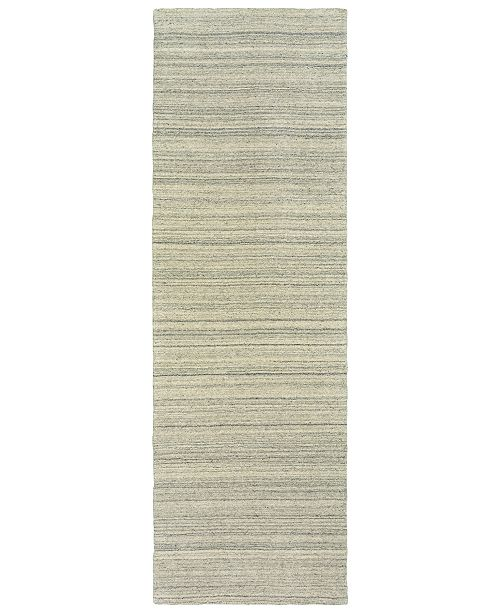 "Oriental Weavers Infused 67001 Beige/Beige 2'6"" x 8' Runner Area Rug"