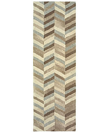 "Oriental Weavers Infused 67005 Beige/Gray 2'6"" x 8' Runner Area Rug"