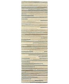 """Oriental Weavers Infused 67007 Beige/Gray 2'6"""" x 8' Runner Area Rug"""
