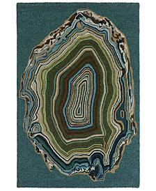 Liora Manne' Lalunita 6038 Agate Blue 2' x 8' Runner Area Rug