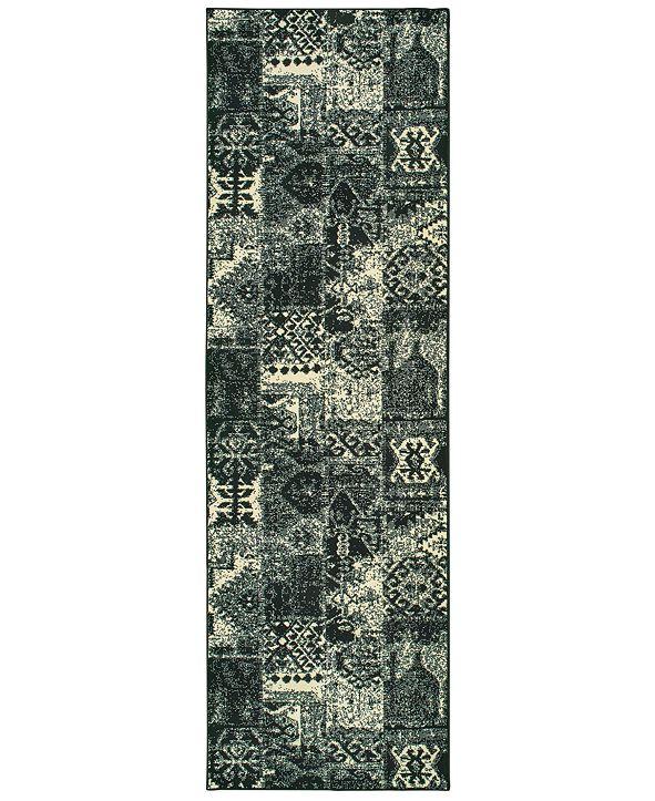 """Oriental Weavers Luna 1804K Black/Ivory 2'3"""" x 7'6"""" Runner Area Rug"""