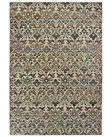 "Oriental Weavers Mantra 1330W Ivory/Gray 2'3"" x 7'6"" Runner Area Rug"