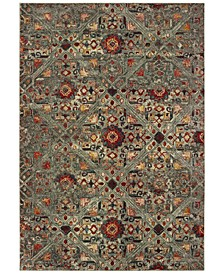 "Mantra 3X Gray/Multi 3'10"" x 5'5"" Area Rug"