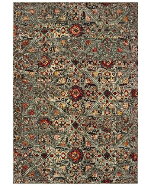 "Oriental Weavers Mantra 3X Gray/Multi 6'7"" x 9'6"" Area Rug"