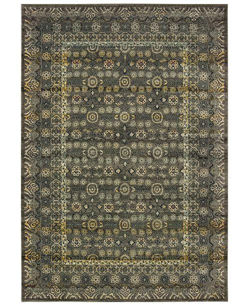 "Oriental Weavers Mantra 507N Gray/Gold 6'7"" x 9'6"" Area Rug"