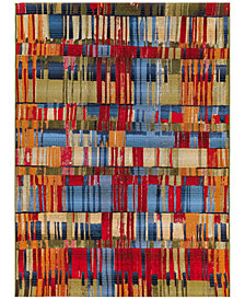 "Liora Manne' Marina 8036 Paintbox Multi 1'11"" x 7'6"" Indoor/Outdoor Runner Area Rug"