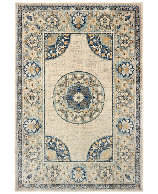 "Oriental Weavers Pandora 8027W Ivory/Blue 7'10"" x 10'10"" Area Rug"