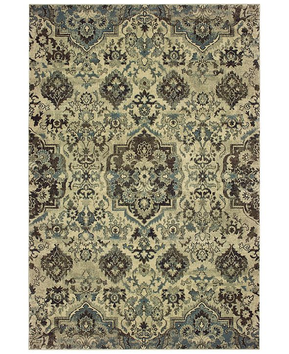 "Oriental Weavers Raleigh 8027J Ivory/Gray 6'7"" x 9'6"" Area Rug"
