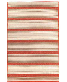 "Liora Manne' Riviera 7640 Stripe 7'10"" Indoor/Outdoor Square Area Rug"