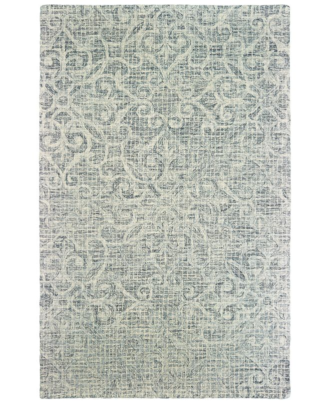 "Oriental Weavers Tallavera 55602 Gray/Ivory 2'6"" x 8' Runner Area Rug"