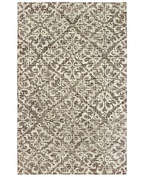 "Oriental Weavers Tallavera 55607 Brown/Ivory 2'6"" x 8' Runner Area Rug"