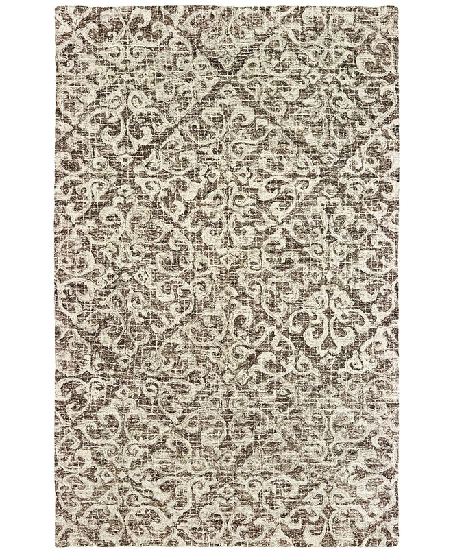 Oriental Weavers Tallavera 55607 Brown/Ivory 5' x 8' Area Rug
