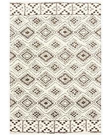 "Oriental Weavers Verona Shag 1330W Ivory/Brown 6'7"" x 9'6"" Area Rug"
