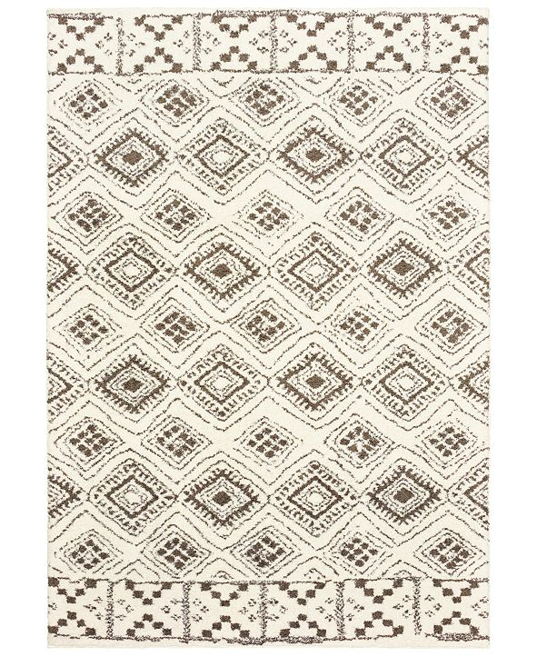 Oriental Weavers Verona Shag 1330W Ivory/Brown 2' x 3' Area Rug