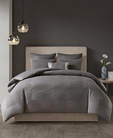 N Natori Hanae Full/Queen Cotton Blend Yarn Dyed 3 Piece Comforter Set