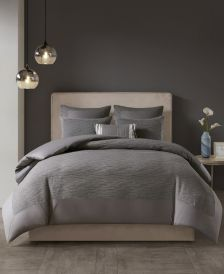 Hanae Full/Queen Cotton Blend Yarn Dyed 3 Piece Comforter Set