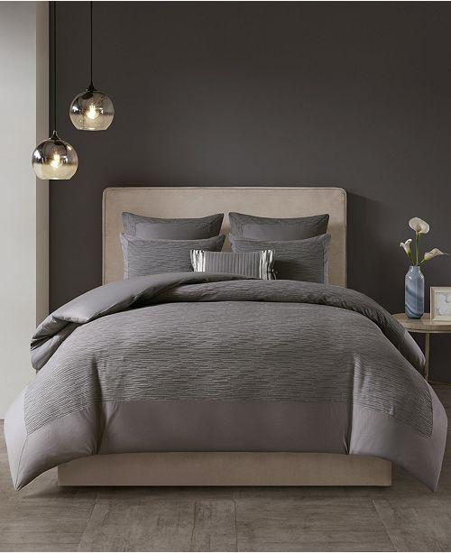 Natori Hanae King Cotton Blend Yarn Dyed 3 Piece Comforter Set