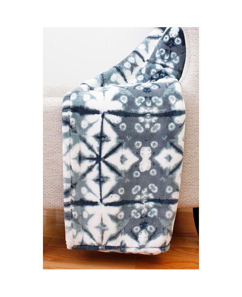 "THRO Jade Shibori Loft Fleece Decorative 50"" x 60"""