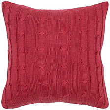 "Rizzy Home 18"" x 18"" Cable Knit Pillow Cover"