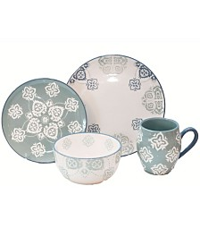Baum Painterly 16 Piece Dinnerware Set