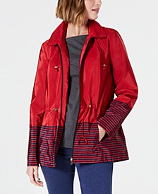 Striped Hooded Anorak Jacket, Created for Macy's