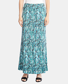 Karen Kane Printed Pull-On Maxi Skirt