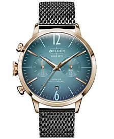 Men's Gunmetal Stainless Steel Mesh Bracelet Watch 42mm