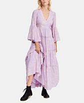 fae51cd3672 Free People Cotton Printed Carmen Tie-Back Maxi Dress