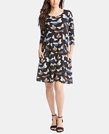 Karen Kane Chloe Butterfly-Print A-Line Dress