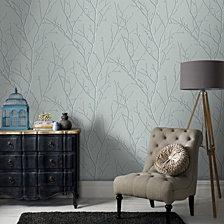 Graham & Brown Water Silk Sprig Wallpaper