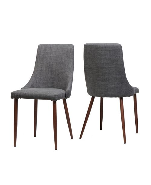 Noble House Sabina Dining Chairs (Set Of 2), Quick Ship